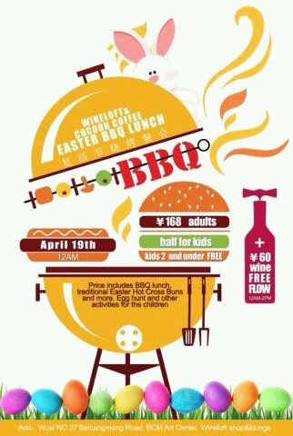 Upcoming Events Easter BBQ Lunch | Wuxi City Guide