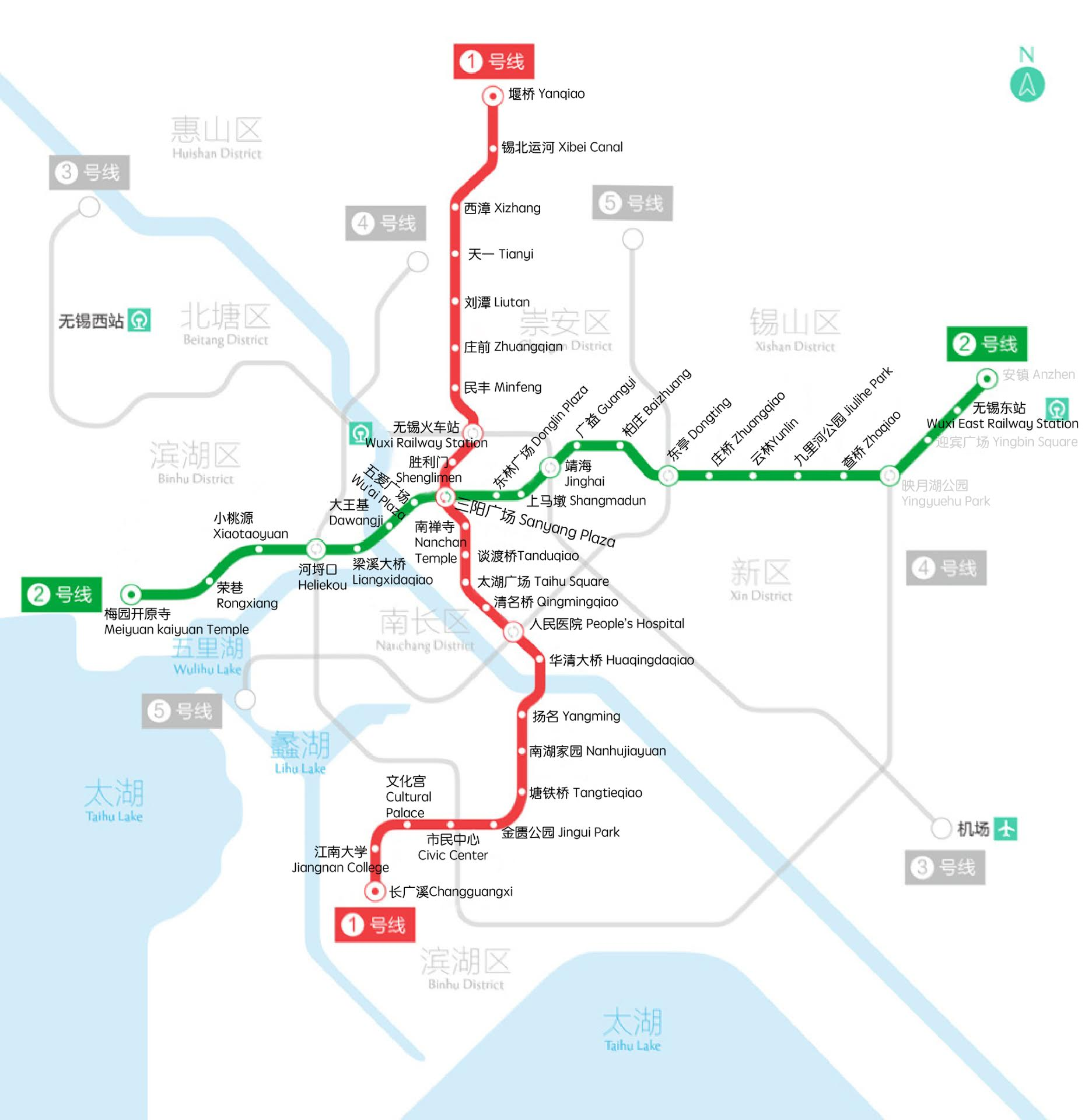 Subway Lines 1 and 2 revised